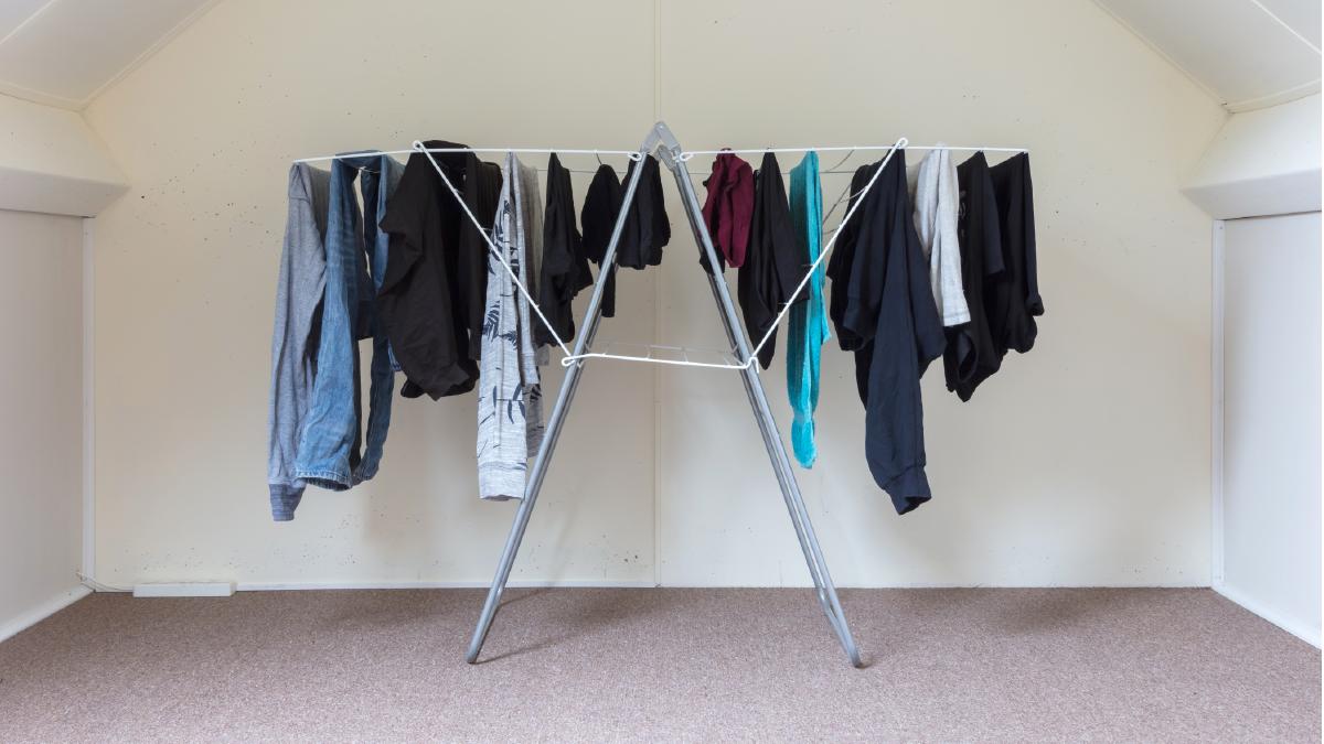 曬衣時盡量排列成拱型